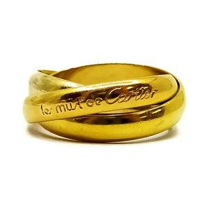real Cartier Ring Trinity K18 Gold White gold